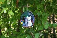 Garten CHIC 3D Windspiel Edelstahl Katzenmotiv Durchmesser Ø30 cm 3618 KA