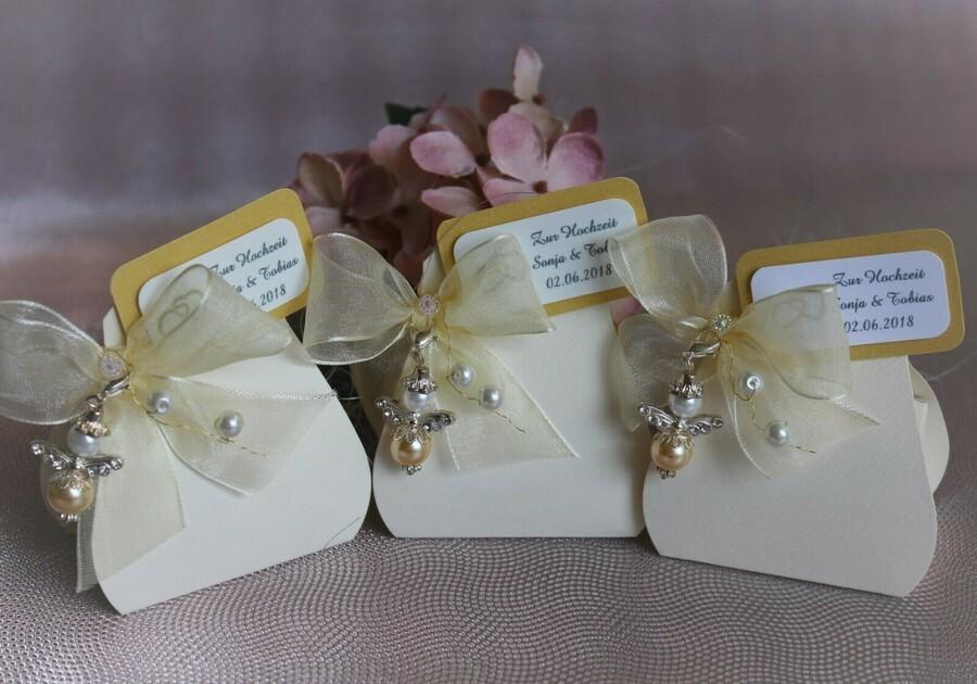 Personalisierte Gastgeschenke Hochzeit Engel Glucksbringer
