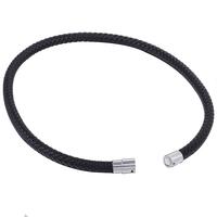 Silber Spirale Edelstahl Kette Anhänger 3mm Braun Leder Geflochten ZuverläSsige Leistung Uhren & Schmuck