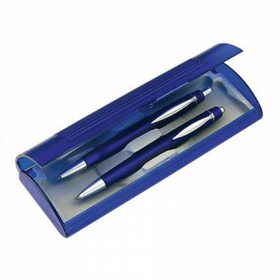 Schreibset schwarz Farbe bestehend aus Kugelschreiber Druckbleistift