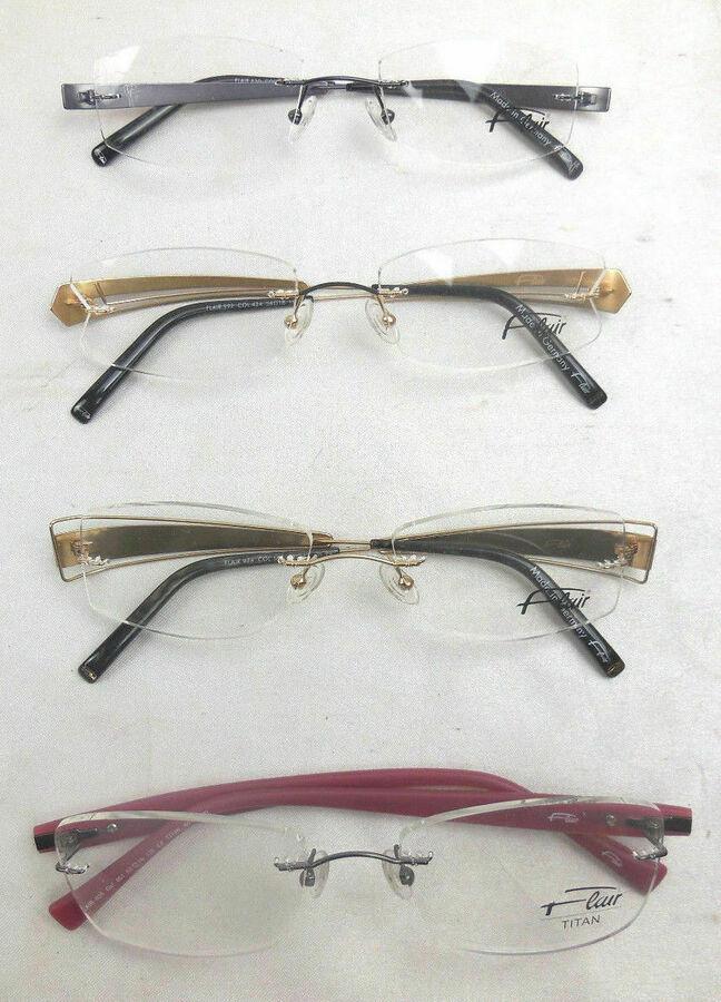 Flair Titan Randlose Brille, Brillenfassung, Gestell, verschiedene zur Auswahl