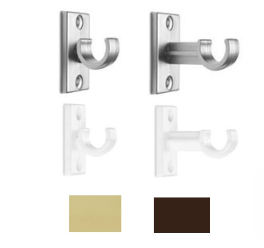 halterung f r fenstergardinen gardinenstange cafehaus garnitur california ebay. Black Bedroom Furniture Sets. Home Design Ideas