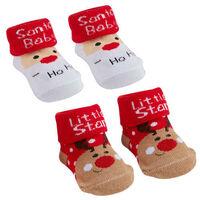 Babysocken Socken Erstlingssocken Weihnachten Schneemann Weihnachtsmann Rentier