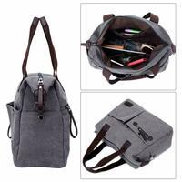 ccf42d57400df Damen Tasche Vintage Canvas Umhängetasche Schultertasche Büro Uni Shopper.  Damen stilvolle Multifunktionstasche ist sehr gut als Geschenk und kann  Ihrer ...