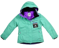 Details about Salomon 10K Girl Ski Jacket Snowboard Jacket Kids Winter Jacket Turquoise Green show original title