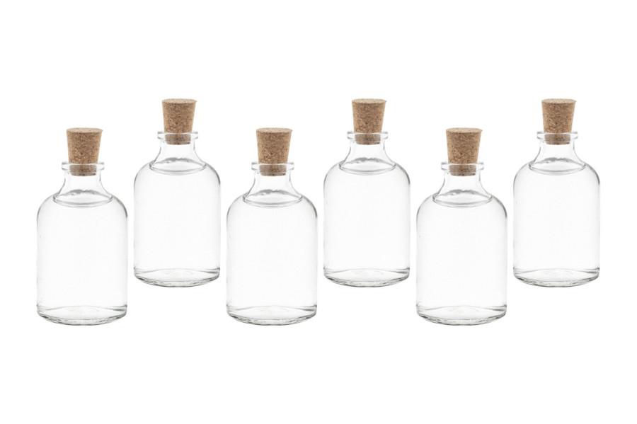 25 x 50 ml tr glas flaschen kleine mini fl schchen mit korken auch 20 40 100 ml ebay. Black Bedroom Furniture Sets. Home Design Ideas