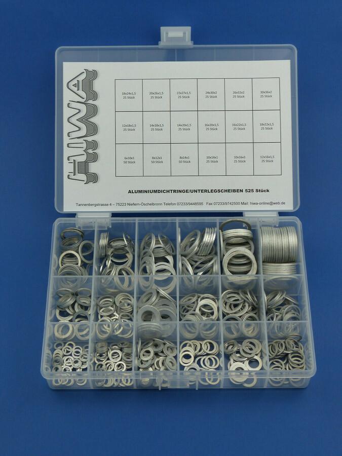 Aluminium Unterlegscheiben 10x14x1 für KFZ 25 Stück