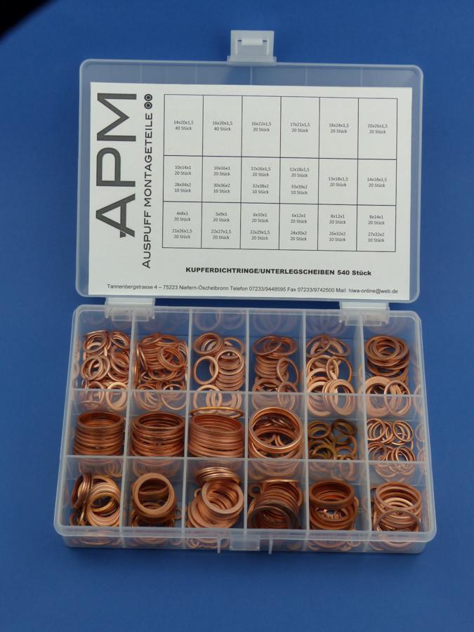 50 Stück Kupferringe Dichtringe 13x18x1,5 mm M 13