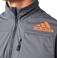 Adidas XPR SOFTSHELL VEST Herren Sport Weste Radweste Langlauf Rad Jacke grau