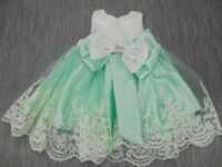 fd335714d3fd68 BABY Kleid Taufe Taufkleid Festkleid Weiß Mint 5-teilig Body Schuhe ...