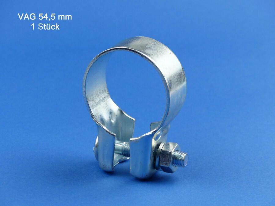 5 Stück Breitbandschelle Auspuffschelle Rohrverbinder Montageschelle Ø 55 mm