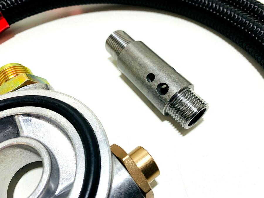 Ölkühler KIT 13 Reihen mit Thermostat AN10 speziell für den VR6 R32 2.8L 24V