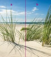 Dünen am Strand Fliesenersatz Eck Duschrückwand Rückwand Dusche Alu