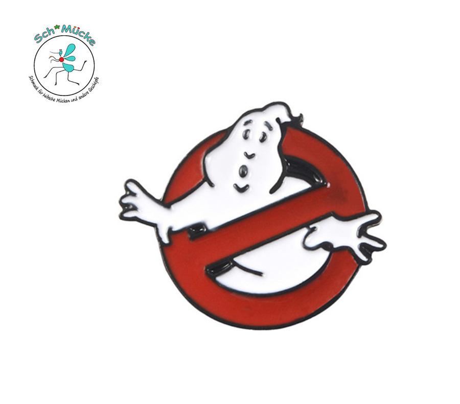 Anstecker Anstecknadel Geister-Verbot Halloween Humor Glücksbringer Geschenkidee