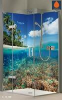 Eck Duschrückwand Rückwand Dusche Alu Karibik Unterwasser Fliesenersatz