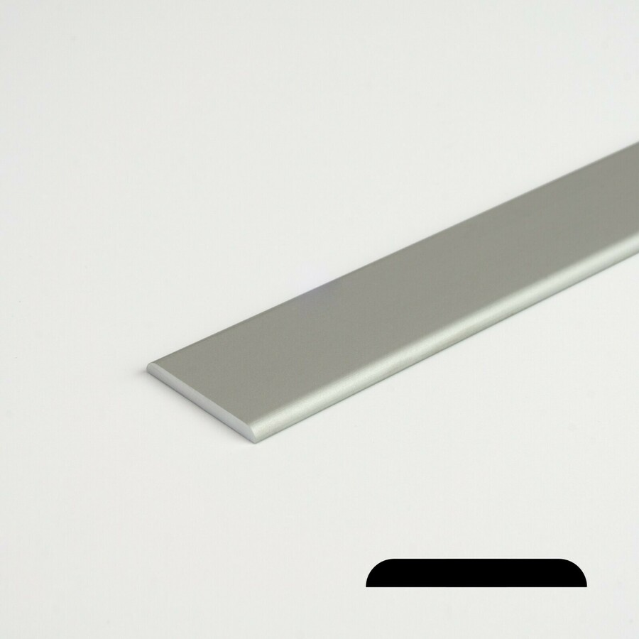 100cm Flachstange Alustange Profil Flach Aluminium Flachprofil Länge 1000mm