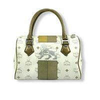 Details zu MCM Handtasche Boston Bag Visetos Lion Tasche Henkeltasche Print Pastell small