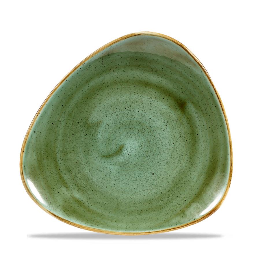 Churchill STONECAST Samphire Green Triangle Plate Teller Porzellan 22,9 cm