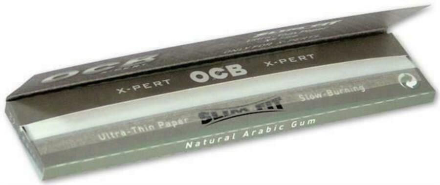10 Heftchen OCB X-Pert Slim Fit Papier Zigarettenpapier Blättchen Papers