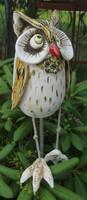 Keramik Eule Deko Skulptur Gartenstecker Gartendekoration Kautz Uhu