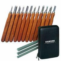 Holzschnitzwerkzeug Set   12 Stück Holzschnitzerei Set mit Tasche für Profis