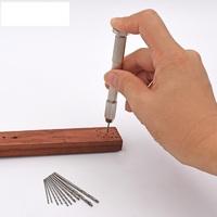 11 teilig mini Handbohrer 10 Spiralbohrer Set Holz Modellbau PCB Schmuck