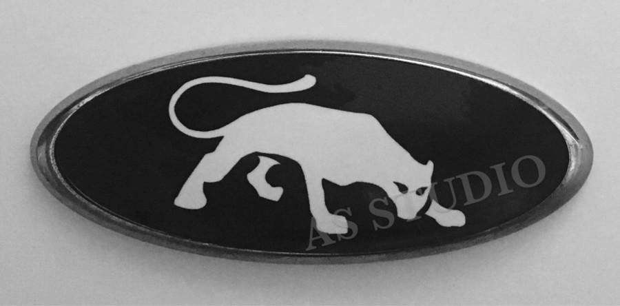 Carbon silber 2x 150x60mm Emblem Pflaume Folie 126x48mm
