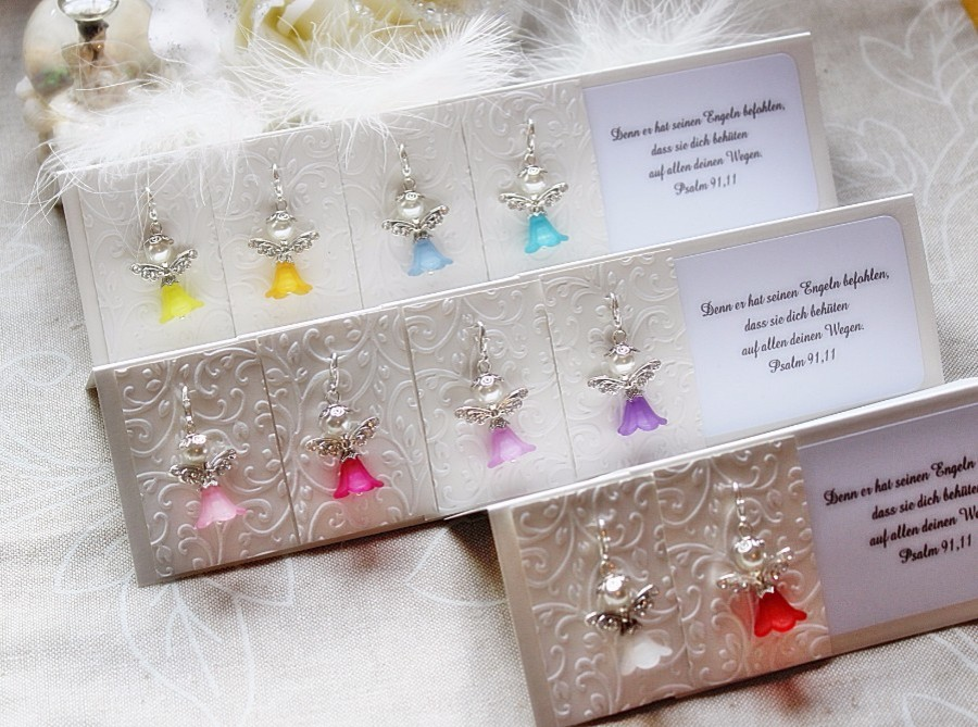 Engelkarte Schutzengel Perlenengel Talisman Schutz