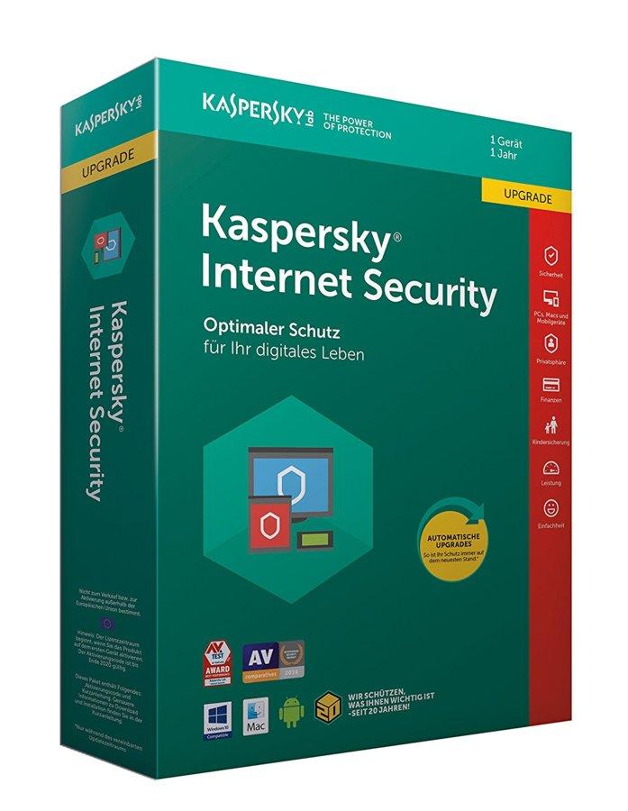 Kaspersky Internet Security 2020-1 PC-1 Jahr/Vollversion