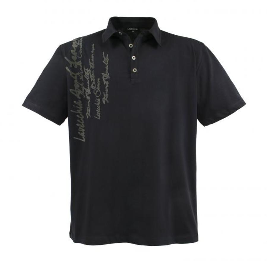 Lavecchia Mens Polo Shirt Anthracite Big Sizes