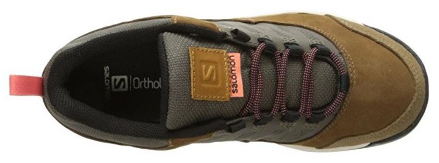 Details zu Salomon Instinct Travel Damen Leder Trekking Hiking Outdoor Schuhe Wanderschuhe CmbSh