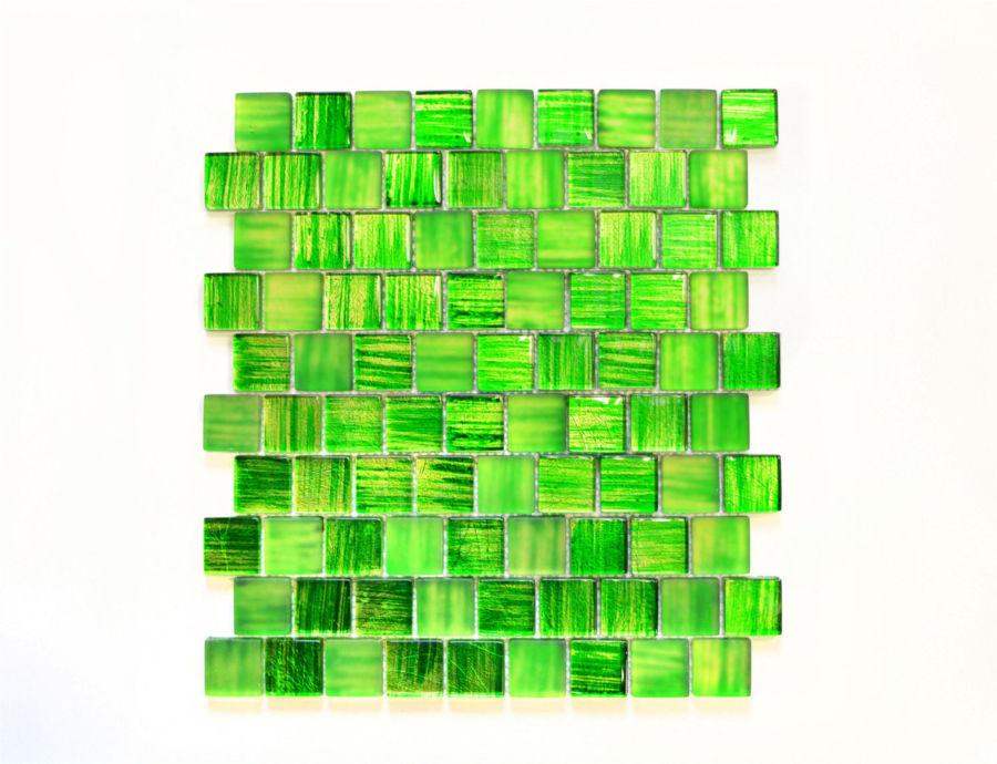 Mosaik Fliese Glasmosaik Struktur grün mix klar//gefrostet Wand Bad 78-CF83/_b