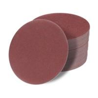 180 mm Schleifscheiben P36-1200 Exzenter Schleifpapier Klett haft rot 50 STÜCK